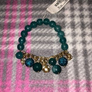 NWT Charming Charlie Blue Beaded Stretch Bracelet